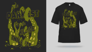 Thickets Tentacle Pool T-shirt designed by Ebon Aves Apparel - CLICK TO ENGORGE